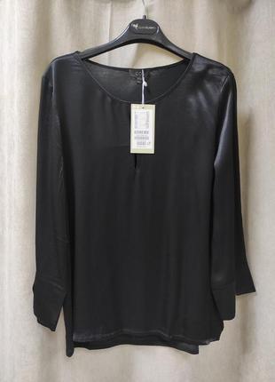 Сатиновая блузка с трикотажной спинкой cos