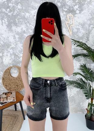 Джинсовые шорты высокая посадка в винтажном стиле винтаж calvin klein
