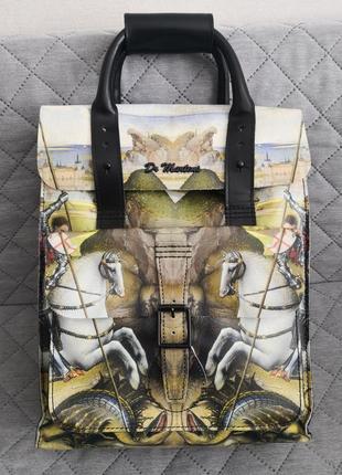 Vip!!! мега шикарный большой кожаный эксклюзивный рюкзак dr. martens💣💣💣🔥👜🌹