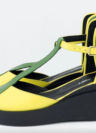 Крутые эксклюзивные кожаные туфли на танкетке в любом цвете!