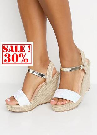 Розпродаж!!! неймовірні літні босоніжки на танкетці бренду asos! знижка -30%! акція. останні розміри
