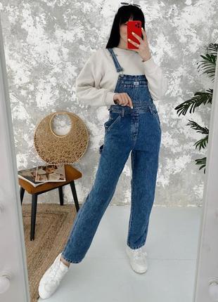 Винтажный джинсовый комбинезон винтаж calvin klein