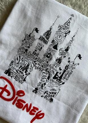 Белая хлопковая футболка disney размер one size