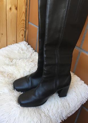 Сапоги ботинки винтажные с квадрантным носком