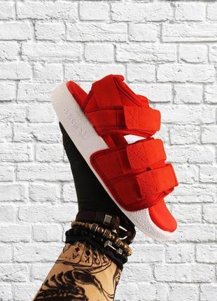 Мужские adidas  sandal red white, сандалии адидас летние на липучках