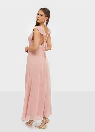 Женское розрвое платье миди bershka