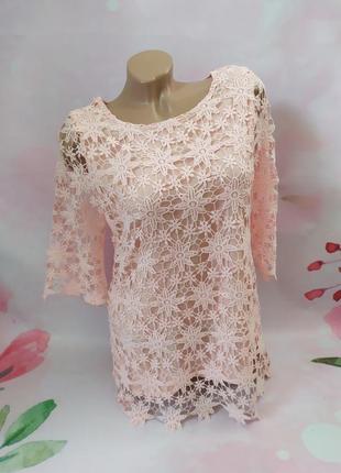 Шикарная ажурная блуза