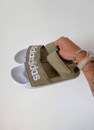 Женские босоножки adidas slippers olive