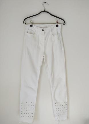 Укороченные джинсы высокая посадка sandro