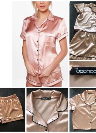 Атласная летняя пижама boohoo xl/42/50