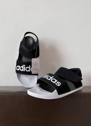 Женские босоножки adidas slippers black