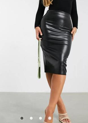 Черная юбка миди asos design, 48евро,/124-130об, новая