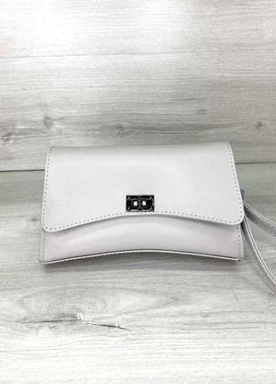 Модная женская молодежная поясная сумка кроссбоди aliri-901-01 серая