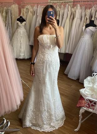 Распродажа. свадебное платье рыбка