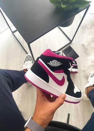 Женские кроссовки nike air jordan 1 retro pink3 фото