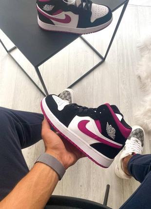 Женские кроссовки nike air jordan 1 retro pink2 фото