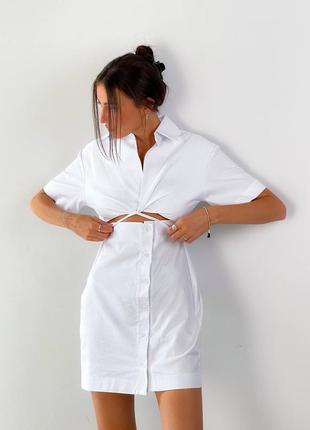 Платье котон белое