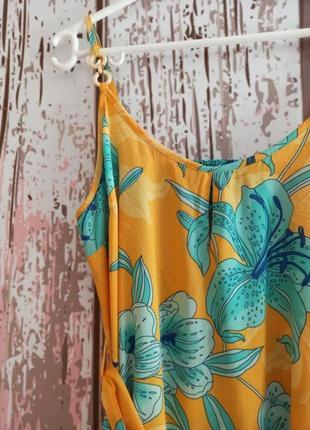 Пляжное платье с цветочным принтом3 фото