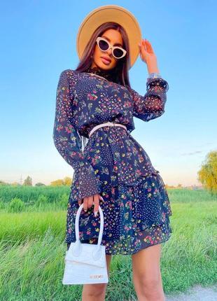 Шифоновое платье (2 расцветки)9 фото