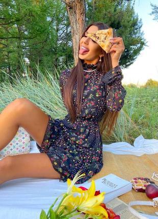 Шифоновое платье (2 расцветки)6 фото