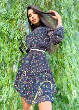 Шифоновое платье (2 расцветки)10 фото