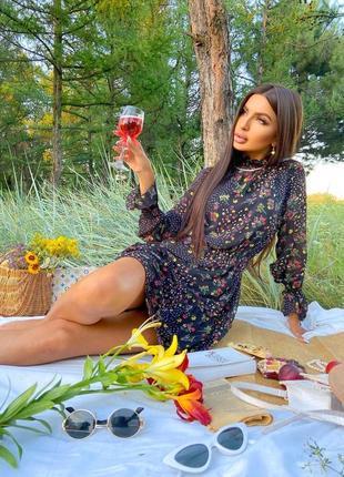Шифоновое платье (2 расцветки)7 фото
