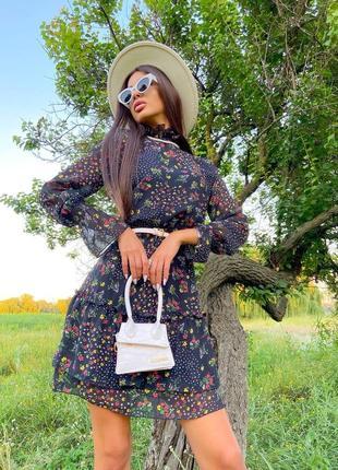 Шифоновое платье (2 расцветки)2 фото