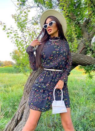 Шифоновое платье (2 расцветки)8 фото