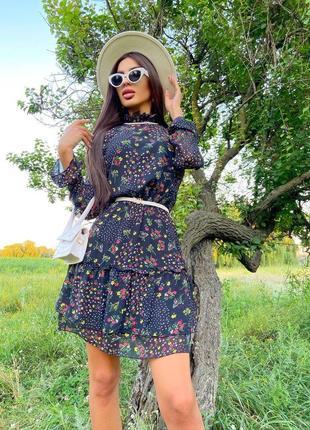 Шифоновое платье (2 расцветки)1 фото