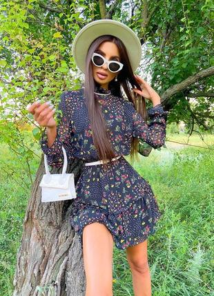 Шифоновое платье (2 расцветки)4 фото