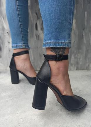 Натуральная кожа замша босоножки на каблуке