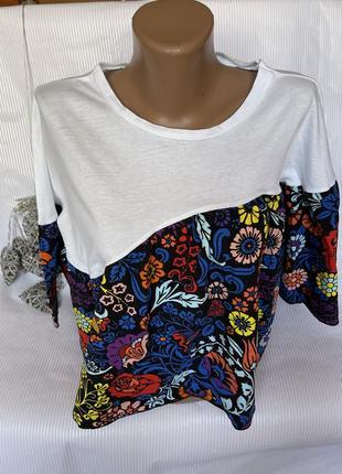 Стильная коротенькая футболка свободный крой zara1 фото