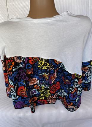 Стильная коротенькая футболка свободный крой zara3 фото