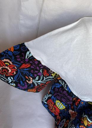 Стильная коротенькая футболка свободный крой zara4 фото
