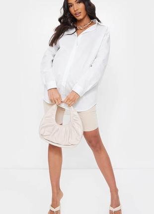 Белая рубашка для беременных oversize prettylittlething3 фото