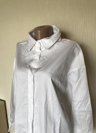 Белая рубашка для беременных oversize prettylittlething