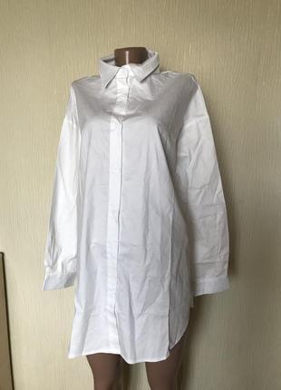 Белая рубашка для беременных oversize prettylittlething2 фото