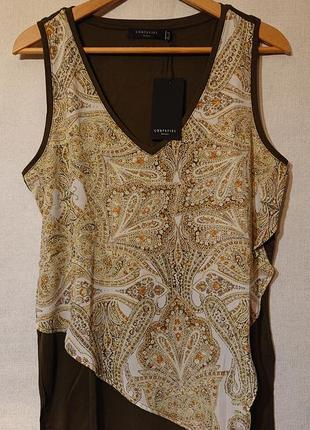 Женская блуза, блузка, топ, футболка, майка, l-xl, наш 48-50 вискоза cortefiel