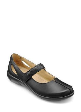 Мегаудобные кожаные туфли балетки мокасины hotter/натуральная кожа3 фото