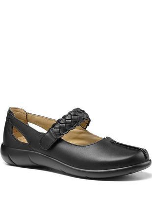 Мегаудобные кожаные туфли балетки мокасины hotter/натуральная кожа2 фото