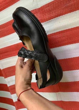 Мегаудобные кожаные туфли балетки мокасины hotter/натуральная кожа5 фото