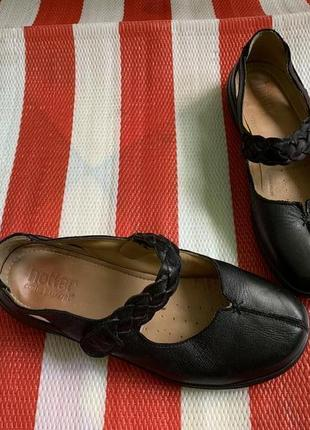 Мегаудобные кожаные туфли балетки мокасины hotter/натуральная кожа6 фото
