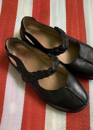 Мегаудобные кожаные туфли балетки мокасины hotter/натуральная кожа4 фото