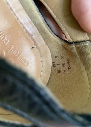 Мегаудобные кожаные туфли балетки мокасины hotter/натуральная кожа9 фото