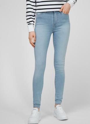 Tommy hilfiger женские голубые джинсы th flex harlem u skinny hw a dar