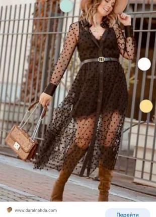 Zara платье накидка кардиган туника zara на пуговицах платье рубашка платье сетка в горошек1 фото