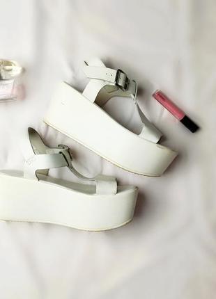 Белые кожаные кроссовки asos