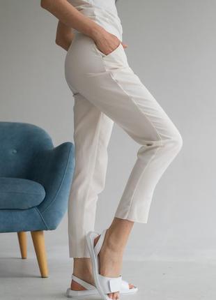 Женские босоножки кожаные летние белые