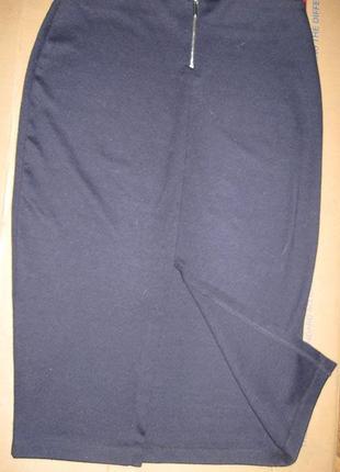 Юбка со шлицей, на молнии3 фото