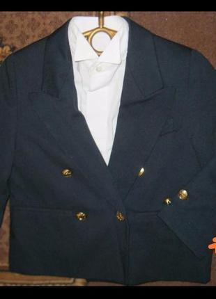 Пиджак с рубашкой для маленького джентельмена